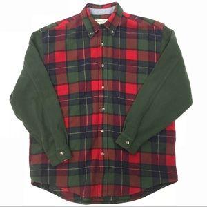 Eddie Bauer Plaid Wool Blend Shirt